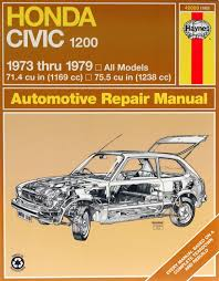 honda civic 1200 73 79 haynes repair manual haynes manuals