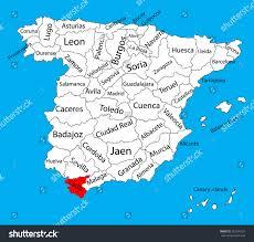 Almeria Spain Map by Cadiz Map Spain Province Vector Map Stock Vector 327299537