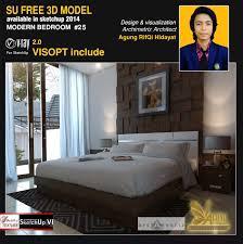 sketchup texture free sketchup model modern bedroom 25 vray