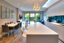 kitchen cabinets wall extension open plan single storey kitchen extension contemporary