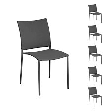 chaises grise chaise de jardin cuarto grise lot de 6 achetez nos chaises