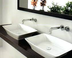 Double Faucet Large Bathroom Sink With Two Faucets Sinks Amusing Trough Bathroom