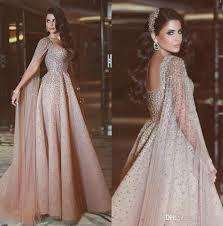 formal gown arabic evening dresses rhinestone chagne formal dress