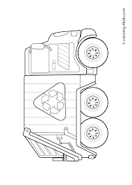 garbage truck u2013 coloring pages for kids grbtrck coloring pages
