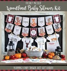 baby shower kits baby shower kit woodland creatures buffalo plaid lumberjack
