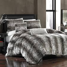 persian leopard faux fur duvet cover bed bath u0026 beyond