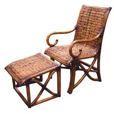 hemingway rattan and wicker chair from summit design stained