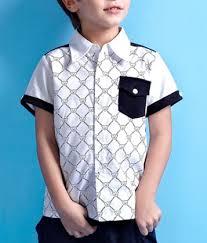 boy shirt white black color boy shirts make clothing