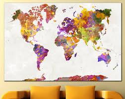 World Map Decor Etsy Within utlr