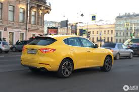 maserati yellow maserati levante diesel 15 december 2016 autogespot