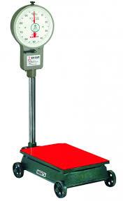 obr cky k 300w 250 mechanická plošinová váha s kolečky 250kg kancelářské