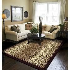 Leopard Area Rugs Walmart Bloomsbury Market Marlette Cheetah Animal Print Leopard Brown