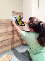 Laminate Flooring On Walls Laminate Flooring Backsplash It Looks Like Wood Bower Power