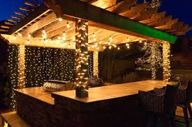 Patio Column Lights Mini String Lights Outdoor Deck Lighting Ideas To Hang Patio White