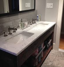 Bathroom Sink Backsplash Ideas Large Smoke 4x12 Bathroom Sink Backsplash Bathroom Pinterest