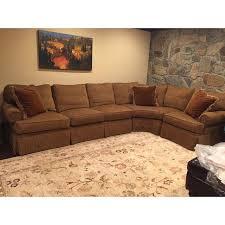 mao like new henredon lawson arm chenille sofa sectional chairish