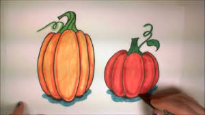 learn how to draw easy pumpkins icanhazdraw youtube