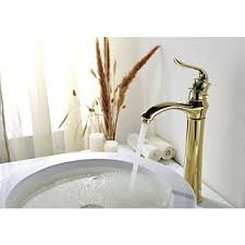 Tall Single Handle Bathroom Faucet Tall Single Handle Vessel Faucet In Antique Gold Faucet