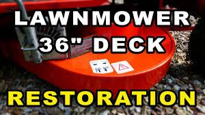 lawnmower cutting deck restoration 36