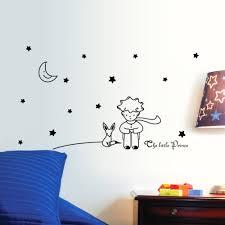 96 42cm stars moon the little prince fox graphic wall vinyl