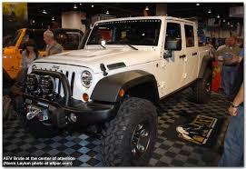 jeep brute 4 door aev brute double cab aftermarket jeep scrambler pickup
