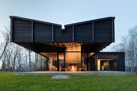 photo 12 of 12 in a dramatic cantilevered roof creates a spacious