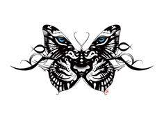 tiger and butterfly black zoeken pinteres