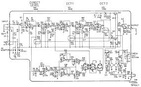 schematic diagram of boss oc 2 octave pedal pedal g pinterest