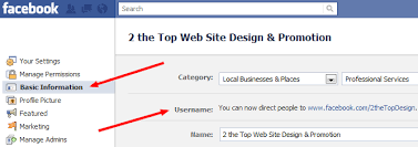 how can my business capitalize how to change a facebook business page url nashville web design