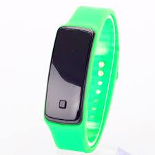 silicone bracelet watches images Women watches men children chic digita wrist watch ultra thin led jpg
