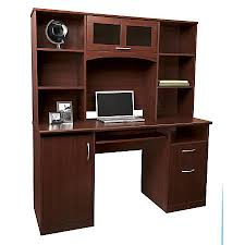 Realspace Landon Desk With Hutch Cherry By Office Depot Officemax