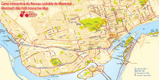 Network Map Montreal Bicycle Paths Network Map Go Montreal Tourism Guide