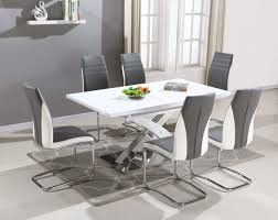 pescara high gloss dining table with 4 6 8 grey luxury chairs ebay