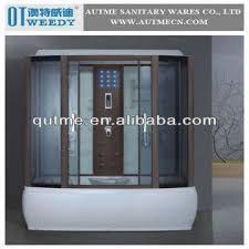 deluxe bamboo massage steam shower room shower door frame parts