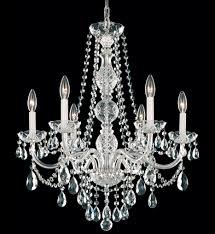 Crystal Chandelier Schonbek 1303 40h Arlington 24 Inch Silver U0026 Heritage Handcut