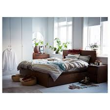 ikea malm bed frame hack bedding malm bed frame high w 4 storage boxes brown stained ash