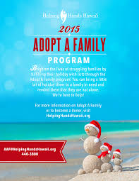 giving through adopt a family program helping hawaii