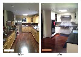 kitchen hickory floors with oak cabinets dark granite