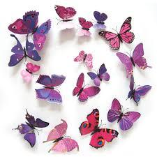 12pcs lot 3d pvc butterflies wall stickers decoration magnet