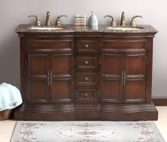Bathroom Classic Style Wenge Wood Double Sinks Bathroom Vanity - Bathroom vanity counter top 2
