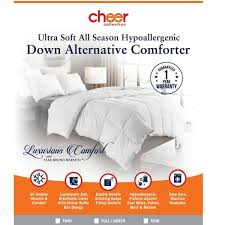 All Seasons Duvet Double Cheer Collection Luxury All Season White Down Alternative