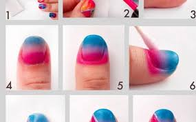 how to do nail designs at home how to do ombre nail art at home