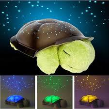 free shipping 4 colors cute design turtle led night light stars