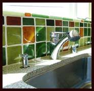 Recycled Glass Backsplash by Green Backsplash Ideas Eco Backsplash Ideas Kitchen And Bathroom