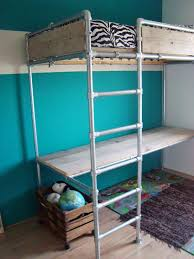 used bunk bed with desk loft bed with desk looks like they used the flange fitting on the