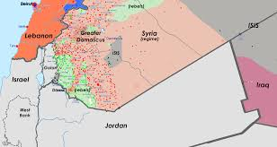 Damascus Syria Map by Southern Syria Jordan Conflict Map July 1 2015 Arsenal For Democracy