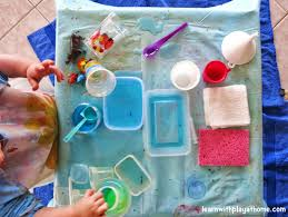 learn with play at home toddler inside water play activity