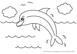 cute dolphin coloring page at kids games central kids printable
