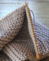 Crochet Rugs With Fabric Strips Floor Mat Free Knitting Pattern Fabric Bowls Fabric Strips