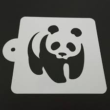 panda cake template luc 5 inch panda design plastic cake stencil template mold